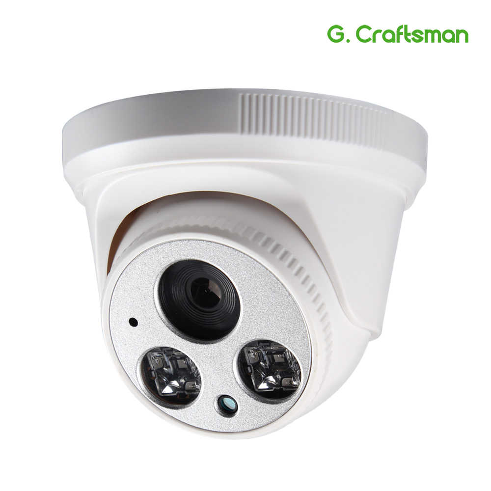 G.Craftsman Audio 1080P POE Full-HD IP Camera 2.8mm Wide Angle 2MP Dome Infrared Night Vision CCTV Video Surveillance Security
