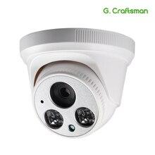 G.Craftsman Audio 1080P POE Full HD cámara IP 2,8mm gran angular 2MP Domo infrarrojos visión nocturna vídeo CCTV Seguridad de vigilancia