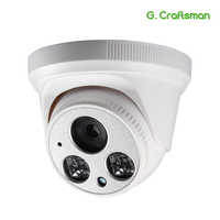 G. craftsman Audio 1080 P POE Full-HD IP Camera 2.8mm Groothoek 2MP Dome Infrarood Nachtzicht CCTV video Surveillance Beveiliging