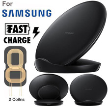 Carprie Double-Coils Lightweight Qi Wireless Charger Charging Stand Dock For Samsung Galaxy S10/S10+ 19Mar02