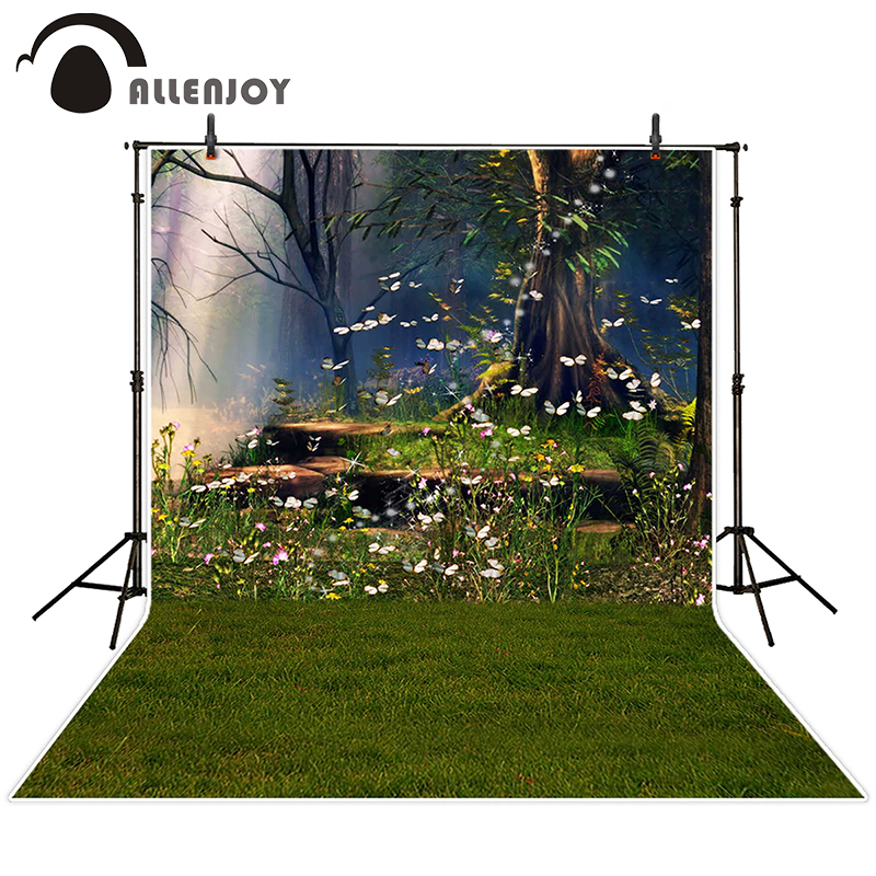 Allenjoy photographic background Flower meadow tree light backdrops christmas wedding vinyl fabric 200cm*300cm
