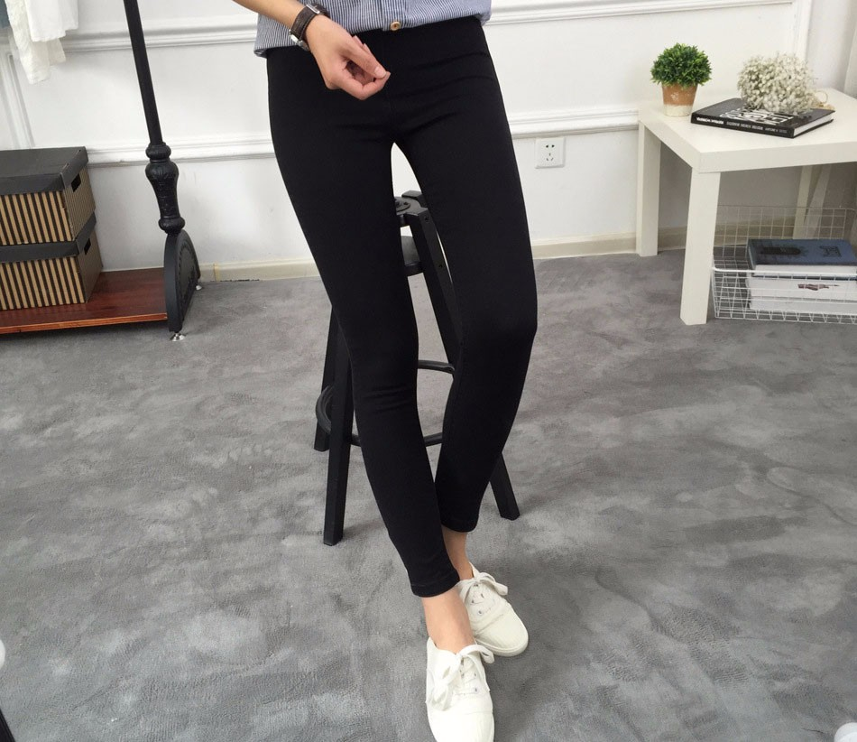 BIVIGAOS Basic Skinny Womens Jeans Ankle Pencil Pants Slim Elastic Denim Pants Jean Leggings Female Cotton Jeggings Jeans Women 18