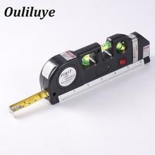 Laser Level Horizon Vertical Measure 8FT Aligner Standard and Metric Rulers Multipurpose Building Tool Mark