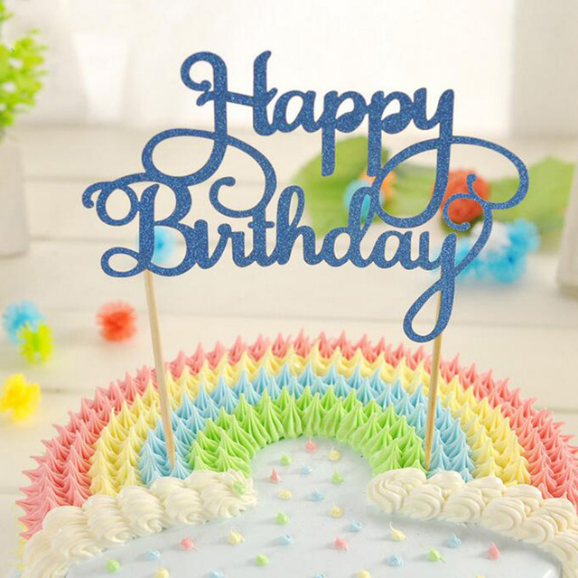Bright Cake Happy Birthday Inserted Card Happy Birthday Birthday