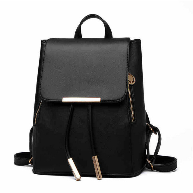 4ea0da78e442 2016 Fashion Backpacks Women Pu Leather School Bag Girls Female Candy Color  Travel Shoulder Bags Waterproof