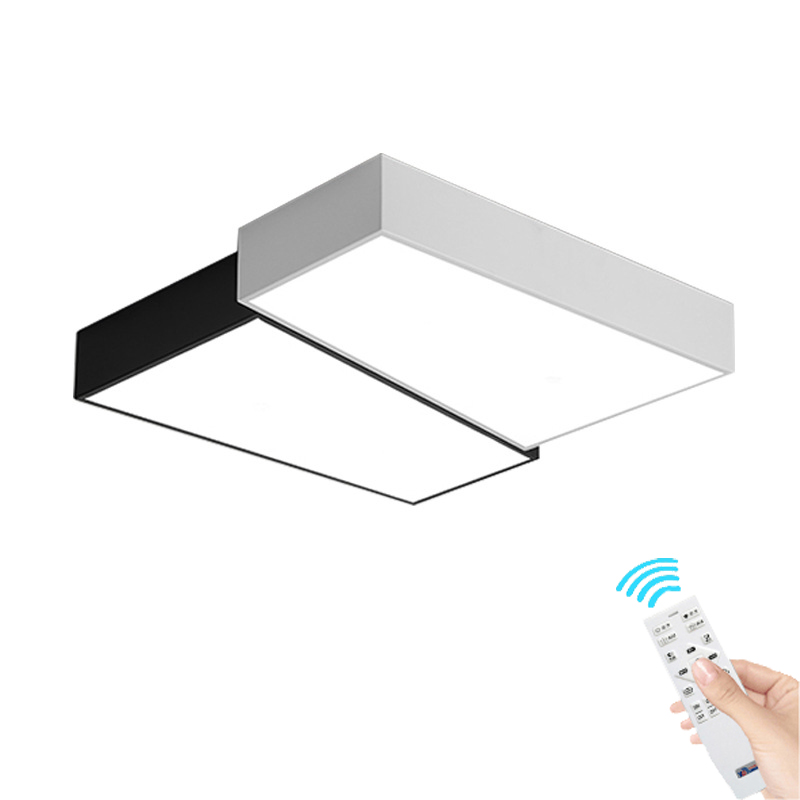 Modern LED Ceiling Lights white+black personality Indoor Lighting Ceiling Lamp Fixture For Living Room Bedroom corridor lamp modern metal led dimmable white black square lamp for bedroom corridor living room ceiling lamp