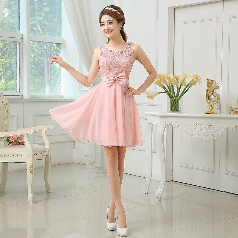 Verano de gasa vestido de dama de la novia hermanas Light Pink ...