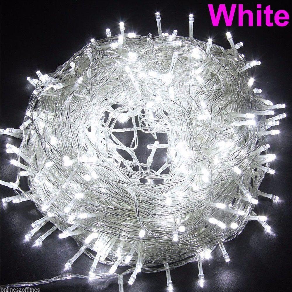 220 V UE 100 M 600 LED Guirlande Led Lumières De Noël Décoration Lampe De Mariage Parti Twinkle Cordes Lumière guirnalda luces de navidad