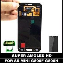 Remplacement Super AMOLED LCD pour Samsung Galaxy S5 Mini G800 G800F G800H Lcd Affichage Écran Tactile Digitizer Assemblée Autocollant