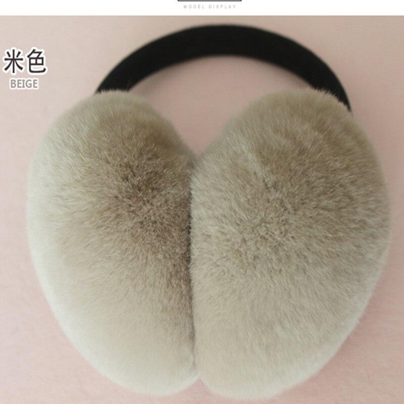 Adjustable Rex Fur Fur Headset Fur Earmuffs Earmuffs Ear Winter Rabbit Hair Bag Cover Super Soft Warm Winter Ear And Ear