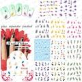 2015 NUEVO 50 Unids/lote BLE1676-1686 Tips Nail Art White Swan Mullido Pluma de Transferencia de Agua Decal Stickers-1 Pack 11 diseño