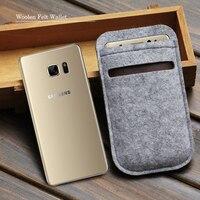 Len Cảm Thấy Wallet điện thoại bag Đối với samsung galaxy note5 trường hợp cho galaxy note4, note3 N9000 túi điện thoại di động túi trường hợp Trường Hợp bìa