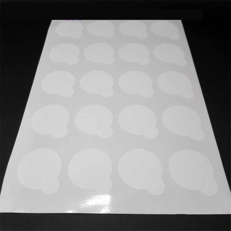 Popular 20 pcs descartável cola Para Cílios titular Pallet 2.5 centímetros de Papel cola Extensão Dos Cílios almofadas de suporte em cílios pedra jade