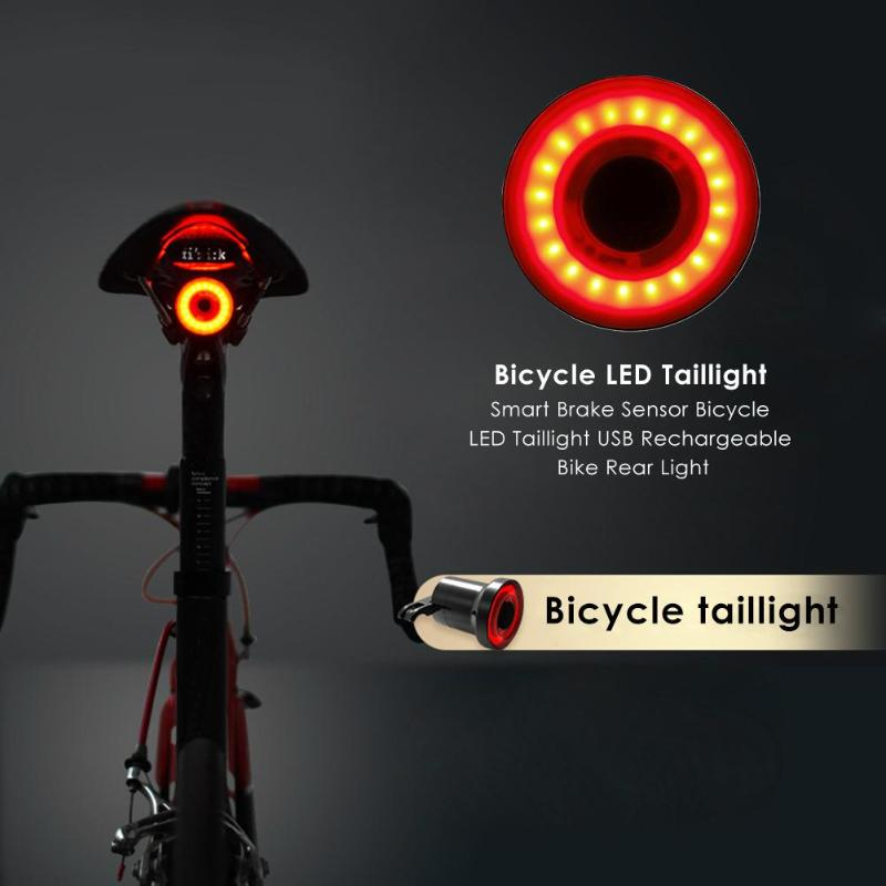 Bicycle Red Rear Tail Back Lights 5 LED 4 Modes Clip on Bike Cycling Safety Lamp