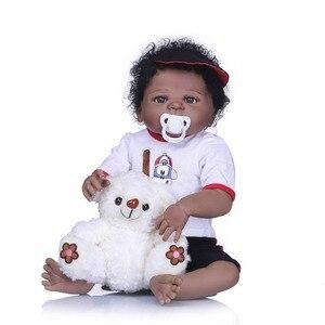 Image 2 - NPK muñecas Reborn realistas de silicona para niñas, muñecos de bebé de estilo de pelo bonito