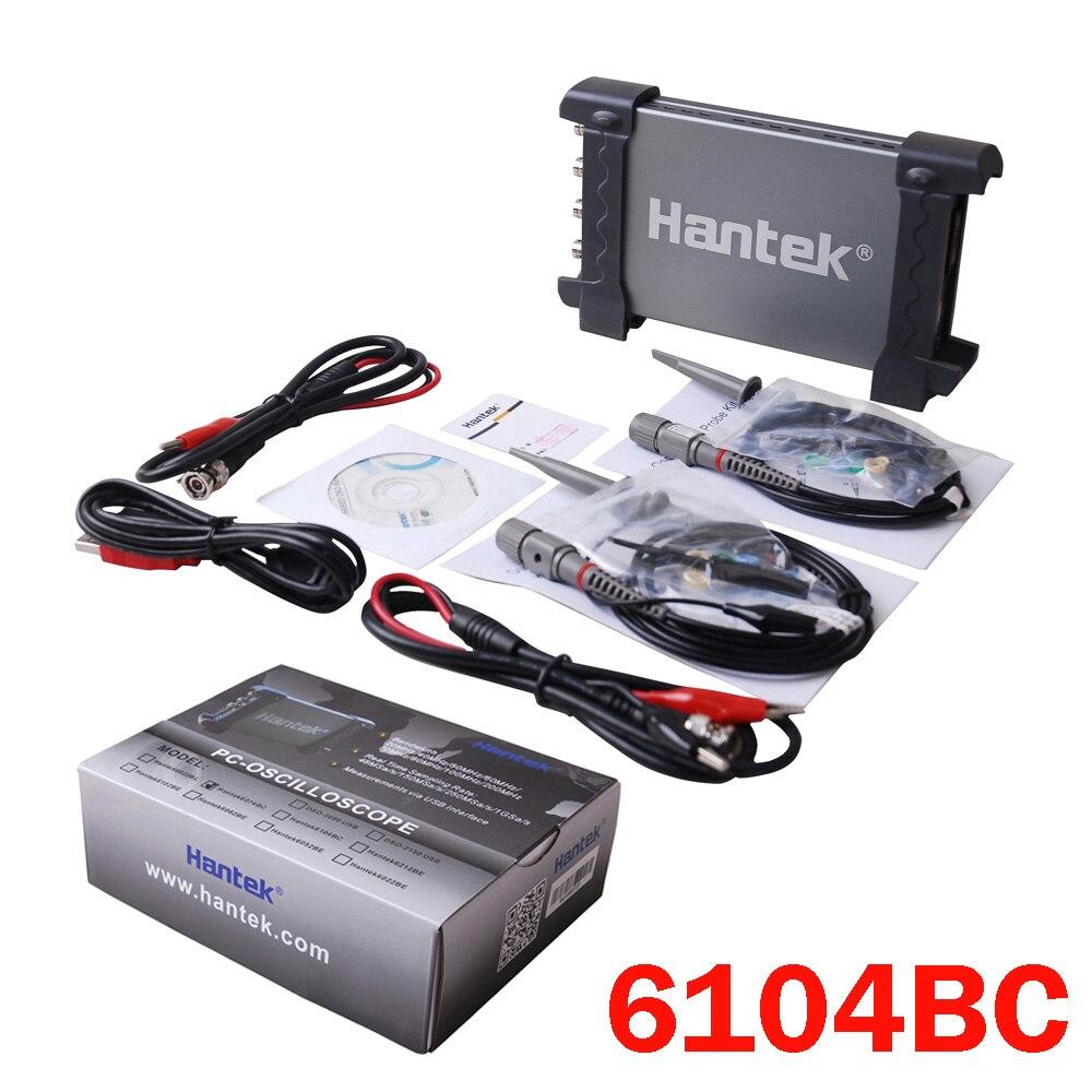 Hantek 6104BC 100 мГц анализатора логики цифровой мультиметр осциллограф тестер USB 2 Каналы ручной Портативный PC хранения данных на основе