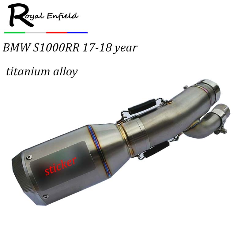 2018 New Titanium Motorcycle Exhaust for BMW S1000RR Year 2017 S1000RR 2018 Muffler, escapamento moto for S1000RR 2017 and 2018 logo s1000rr sliver titanium new cnc adjustable motorcycle brake clutch levers for bmw s1000rr w and w o cc 2015 2016 2017 page 3 page page 5