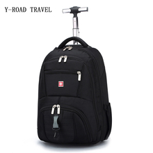 Новый Fashi On Лидер продаж черная сумка тележка плеча Роллинг багажа мужчины and женские оксфорды дорожная сумка интернат сумка для переноски на Магистральные чемодан