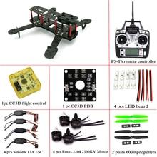 Fibra de carbono Mini C250 QAV250 Quadcopter Quadro Motor 12A Esc quadrotor CC3D Flight Control