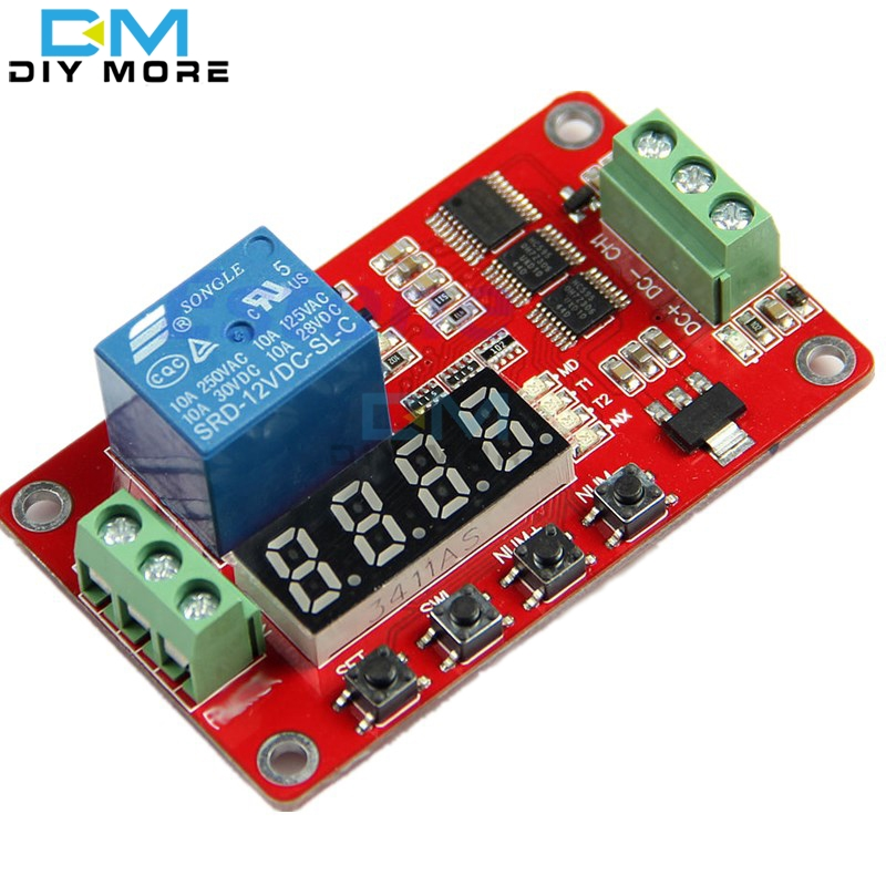 12V DC Multifunction Self-lock Relay PLC Cycle Delay Time Timer Switch Module  PLC Home Automation Delay Module dc 12v led display digital delay timer control switch module plc automation new
