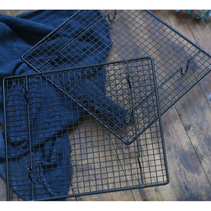Image 5 - Black Grid Baking Tray Stand Biscuit Cookie Pie Bread Cake Rack Cooling Rack Shoot Accessories Props Photography for Food Photo