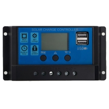 PWM 10/20/30A Dual USB Solar Panel Battery Regulator Charge Controller 12/24V LCD Solar Controllers стоимость