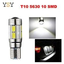 100 قطعة T10 Canbus 10SMD 5630 5730 حر خطأ السيارات LED لمبة مصباح W5W Canbus الداخلية الخفيفة
