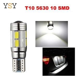 Image 1 - 100pcs T10 Canbus 10SMD 5630 5730 FREE ERROR Auto LED BULB Lamp W5W Canbus Interior Light