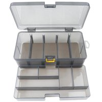 Plástico dupla camada à prova dwaterproof água caixa de pesca iscas isca armazenamento caso capa organizador recipiente acessórios