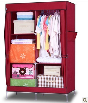 Clothes Closet Wardrobe Closet Armoire Storage Organizer Clothespress Canvas  Space Saver Cabinets Cupboard