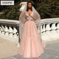 VNXIFM 2019 Uniques Designers A Line Wedding Dresses Train Sweetheart Sexy Lace Backless Plus Size Bridal Gowns Wedding Dresses
