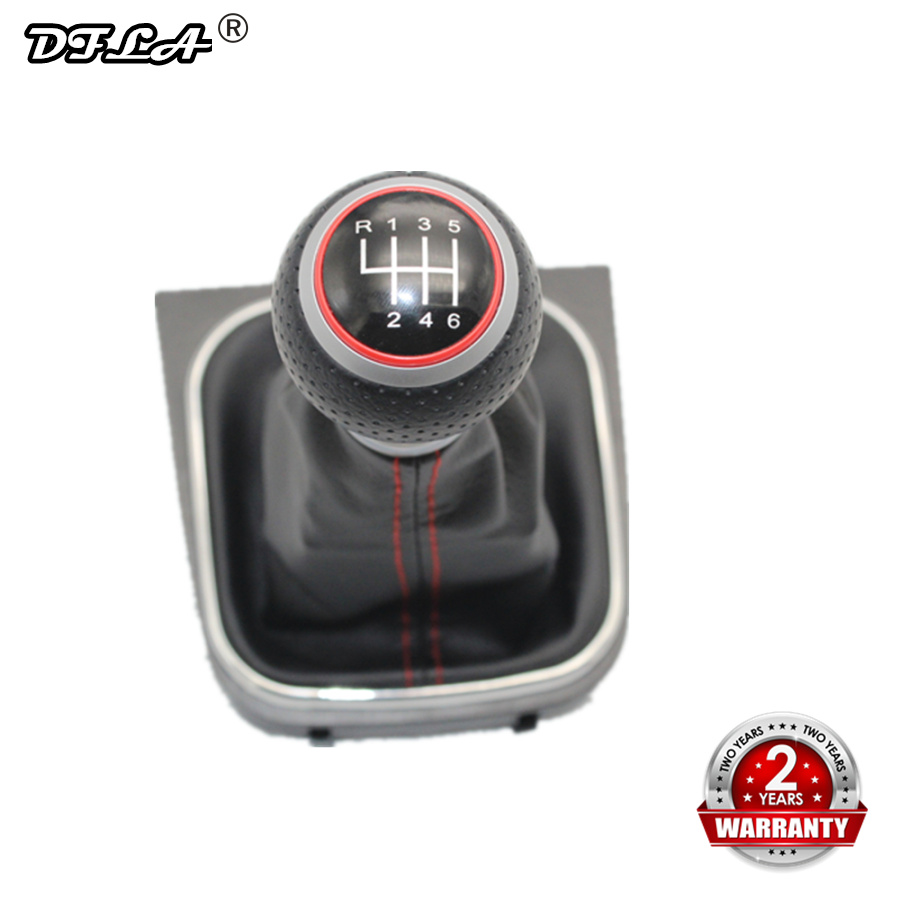 For VW Golf 5 A5 MK5 GTI GTD R32 2004 2005 2006 2007 2008 2009 New 6 Speed Car Gear Stick Level Shift Knob With Leather Boot-in Gear Shift Knob from Automobiles & Motorcycles