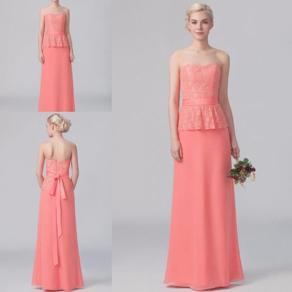 Coral lace bridesmaid dress promotion shop for promotional for Plus size coral dress for wedding