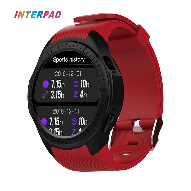 New Interpad GPS Smart Watch MTK2503 With Heart Rate Monitor Sleep Tracker Smartwatch Support SIM Card For iOS Android 2017 new gps smart watch sport waterproof heart rate monitor dial call 2g sim card all compatible smartwatch for android ios