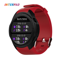 New Interpad GPS Smart Watch MTK2503 With Heart Rate Monitor Sleep Tracker Smartwatch Support SIM Card For iOS Android