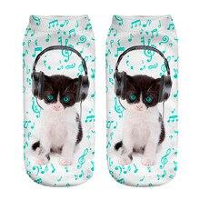 Cute Music Cat Socks