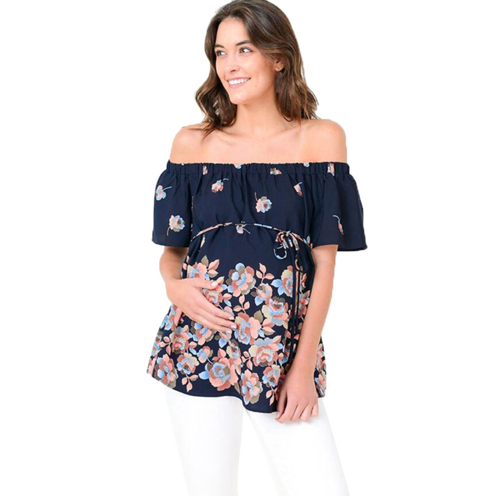 f713b457694c3 US $5.38 2019 New Women Mom Pregnant clothes ropa de mujer shirt ...