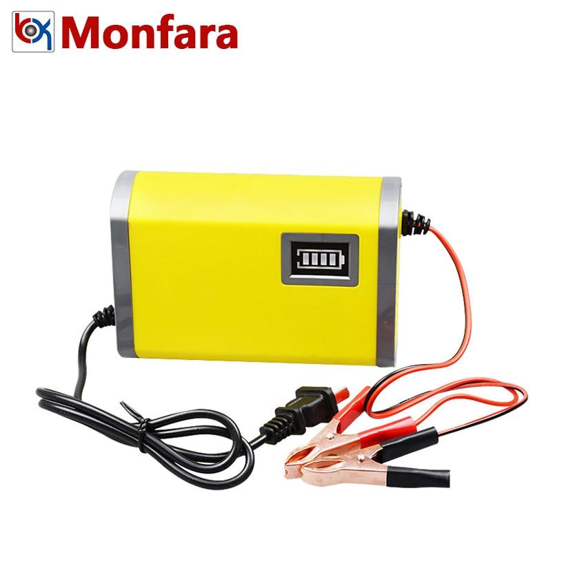 12 v 6A Completamente Automatico Batteria Auto Caricabatteria 110 v 220 v Intelligente Smart Veloce Al Piombo AGM Batterie al GEL carica di potere 12 Volt V EU