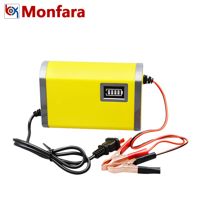 12V 6A Automatic Car Battery Charger 110V 220V Motor Intelligent Smart Fast Power Charge Adapter Lead Acid LED 12 V Voltage 6 A