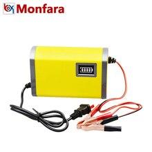 12 В 6A Автоматическая автомобилей Батарея Зарядное устройство 110 В 220 В Мотор Интеллектуальный Смарт Быстрый Мощность зарядки адаптер свинцово-кислотная светодиодный 12 В Напряжение 6