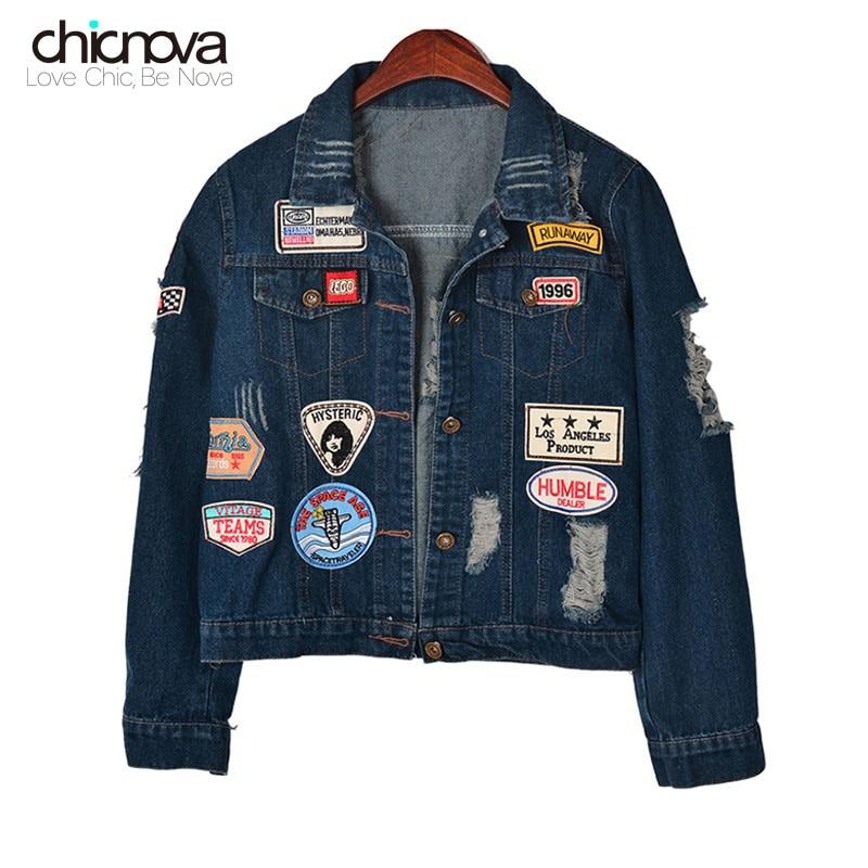 veste en jean femme manche longue women jeans jacket denim coat epaulet jaqueta jeans crop
