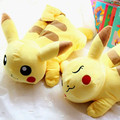 Free shipping Cartoon animation Pokemon go stuffed animals Pokemon sleeping Pikachu Plush Doll Pikachu Plush tissue box cover