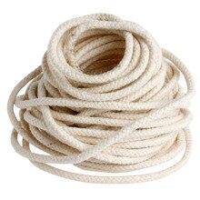 10 м (33 фута) плетеный хлопковый стержень, фитиль для изготовления свечей для масляных или керосиновых ламп, 4 мм, Прямая поставка