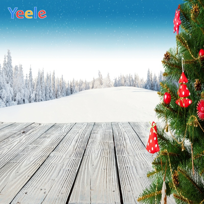 Yeele Christmas Photocall Winter Scenery Pine Gifts Photography Backdrops Personalized Photographic Backgrounds For Photo Studio in Background from Consumer Electronics