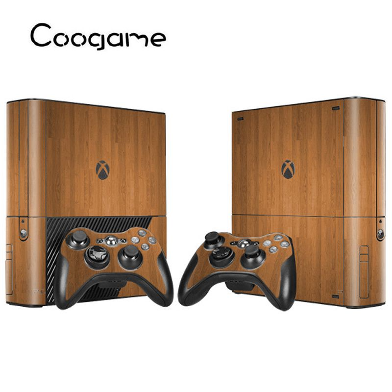 Wood Style Decal For Xbox 360E Console Controller Sticker For Microsoft 360 E Skin
