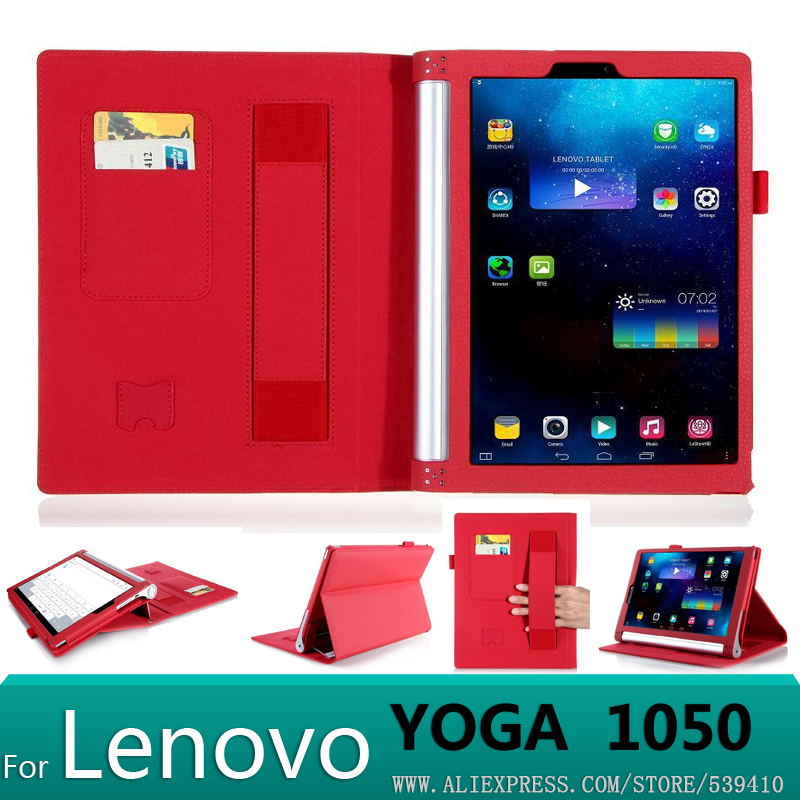 Luxury PU leather Cover case For lenovo yoga tablet 2 10 1050 1050f  1051L 1051 10.1 tablet cover case + Screen protector+stylus differential jewelry antique hand held magnifying glass led light reading office equipment maintenance of high standard with the soldering iron plug led