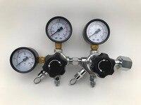 """Dual CO2 Gauge Regler mit 1/4 """"MFL Checkvalves  Homebrew CO2 Regler  0 ~ 2000psi  0 ~ 60psi  CGA320-in Weiteres Barzubehör aus Heim und Garten bei"""