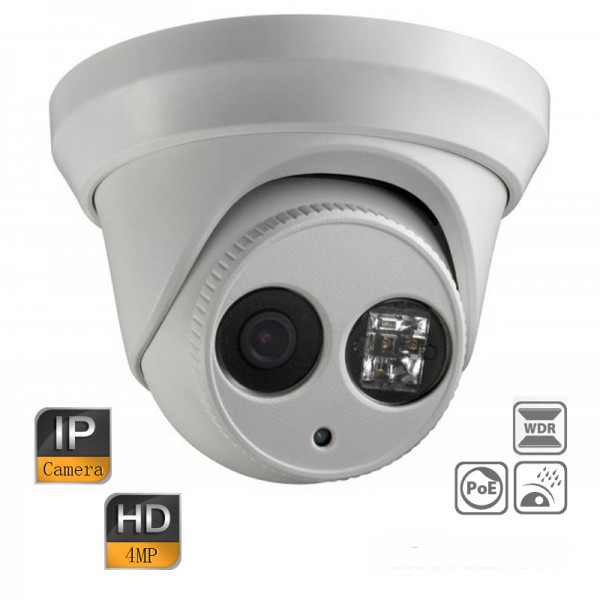 HIK DS-2CD2342WD-I HD IP Security Camera 4MP H.264+ WDR CCTV Surveillance Network EXIR Dome PoE hikvision cctv poe 4mp camera ds 2cd3345 i hd night version onvif exir turret wdr dome ip security camera replace ds 2cd2345 i