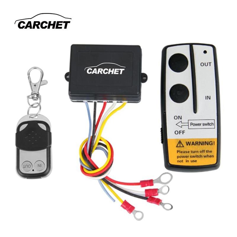 CARCHET 12 V 12 Volt Winch Wireless Kit Controle Remoto para Truck Jeep ATV Guincho GUINCHO Remoto Dupla de Alta Qualidade aparelho interruptor
