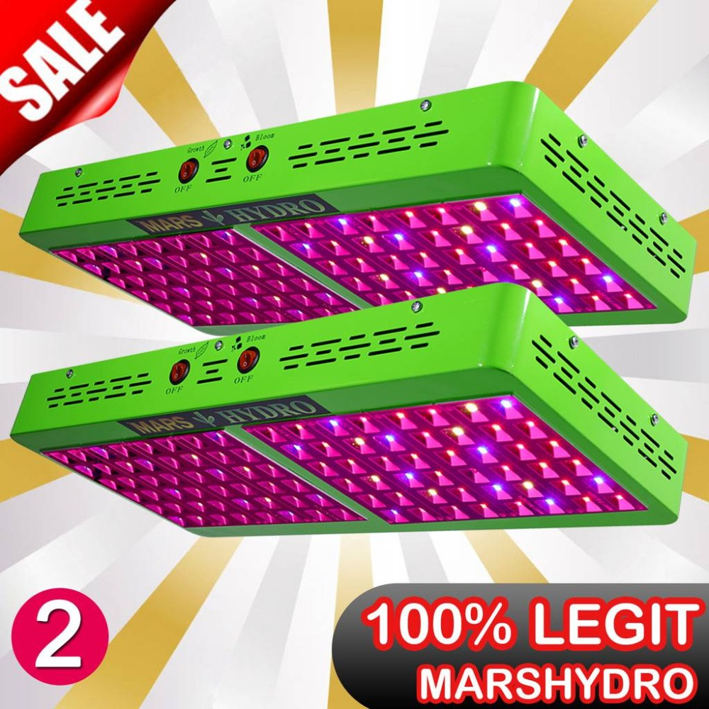 2PCS Mars Hydro Reflector 480W LED Plant Grow Lights Full Spectrum GrowthBloom Switches Hydroponic System NO STOCK IN RU
